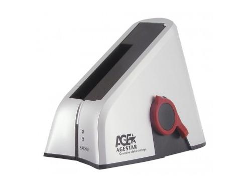 Аксессуар компьютерный AgeStar 3UBT HDD USB3.0 серебристая, вид 1