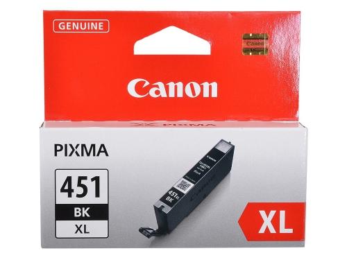 Картридж Canon CLI-451BK XL Чёрный 11 мл (для iP7240, MG5440, MG6340, MG6440, MG7140, MX924), вид 1