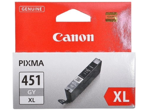 Картридж Canon CLI-451GY XL (серый, 11 мл, для iP7240, MG5440, MG6340, MG6440, MG7140, MX924), вид 1