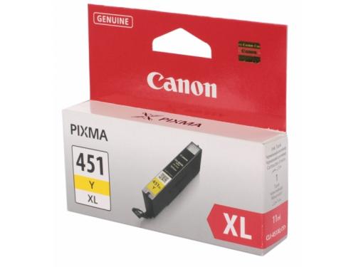 Картридж Canon CLI-451Y XL, желтый (для Canon Pixma iP7240, MG5440, MG5540, MG6340, MG6440, MG7140, MX924)[695 страниц], вид 1