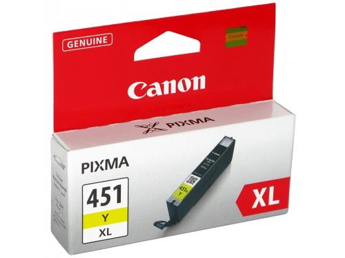 Картридж Canon CLI-451Y XL, желтый (для Canon Pixma iP7240, MG5440, MG5540, MG6340, MG6440, MG7140, MX924)[695 страниц], вид 2