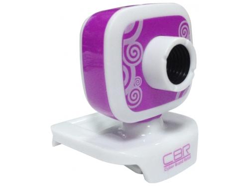 Web-камера CBR CW-835M, универс. крепление, 4 линзы, 1,3 МП, эффекты, микрофон, CW 835M, сиреневая, вид 1