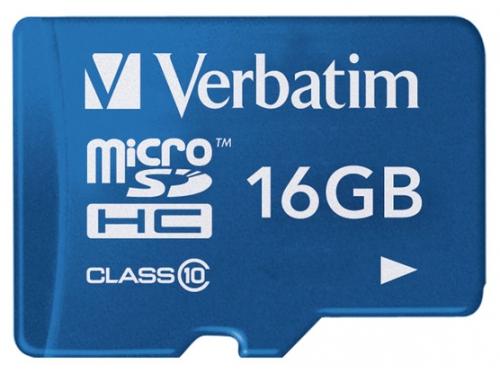 Карта памяти Verbatim Tablet microSDHC Class 10 UHS-1 16GB + SD adapter, вид 1