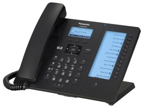 Проводной телефон Panasonic KX-HDV230RU, черный, вид 1