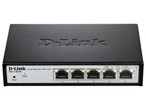 Коммутатор (switch) D-link DGS-1100-05 (управляемый), вид 2