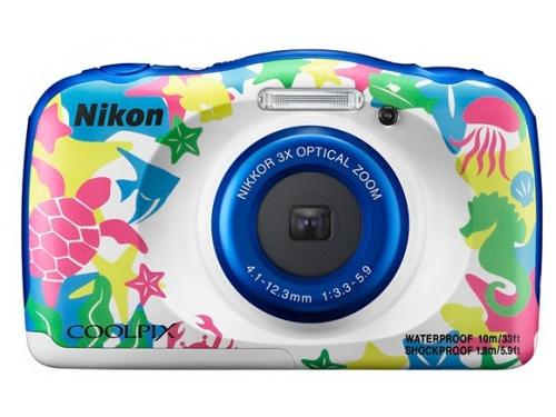 Цифровой фотоаппарат Nikon Coolpix W100, морской рисунок, вид 1