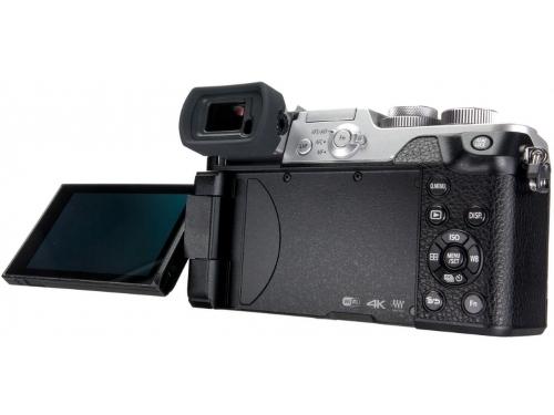 Цифровой фотоаппарат Panasonic Lumix DMC-GX8KEE-S (LUMIX G VARIO), серебристо-чёрный, вид 5