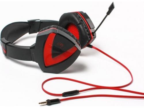 Гарнитура для пк A4-Tech Bloody G500, чёрно-красная (проводная, 2.0ch, 20-2000 Гц, микрофон 50-16000 Гц, провод 2.2м, miniJack), вид 4