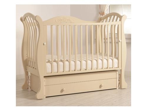 Детская кроватка Гандылян Габриэлла Люкс (универсальный маятник) Слоновая Кость, вид 1
