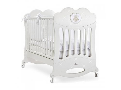 Детская кроватка Feretti Chaton (качалка), белая, вид 1