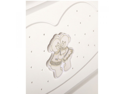 Детская кроватка Feretti Chaton (качалка), белая, вид 2