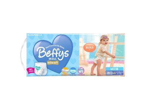 Подгузник Beffy's extra soft  д/мальчиков L 10-14кг/36шт, вид 1