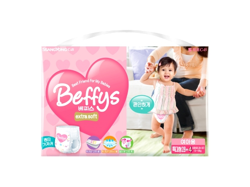 Подгузник Beffy's extra soft д/девочек XL 13-18кг/32шт, вид 1
