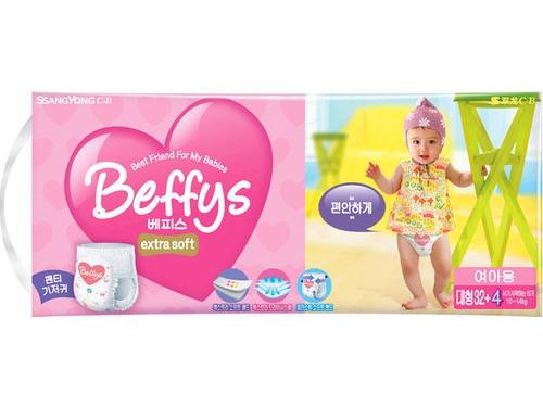 Подгузник Beffy's extra soft д/девочек L 10-14кг/36шт, вид 1