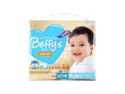 Подгузник Beffy's extra dry д/мальчиков XL более 13кг/32шт, вид 1