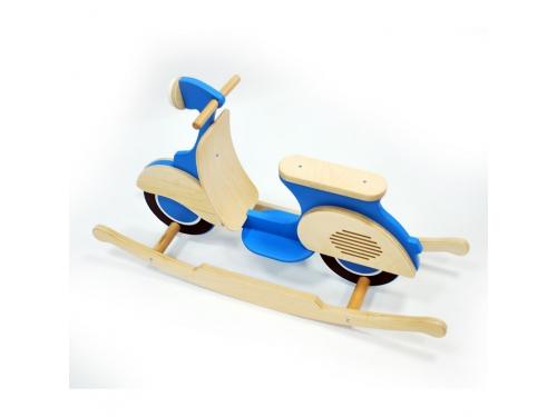 Качалка детская Bruca  Мопед, синяя, вид 7