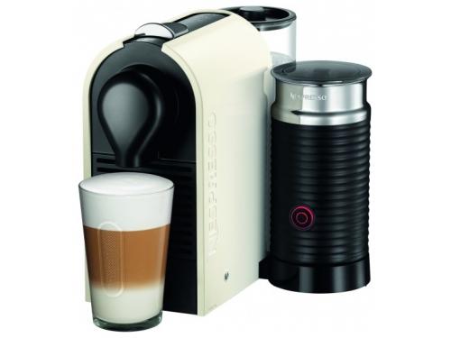 Кофемашина Krups XN 2601 Nespresso U & Milk, бело-чёрная, вид 1