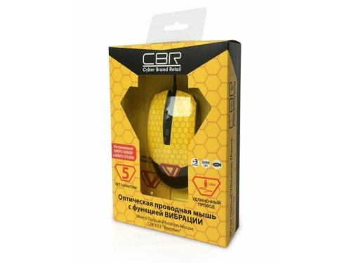 Мышка CBR CM-833 Beeman, оптическая, USB, с виброприводом, вид 5