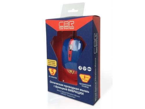 Мышка CBR CM-833 Superman, оптическая, USB, с виброприводом, вид 5