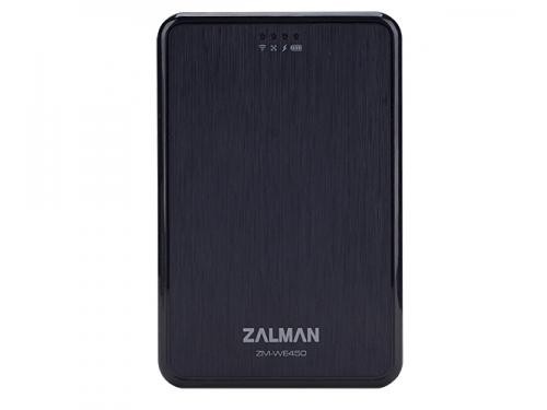 Корпус для жесткого диска ZALMAN ZM-WE450 (2.5'', USB 3.0, Wi-Fi), чёрный, вид 1