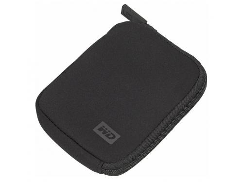 Корпус для жесткого диска Чехол WD WDBABK0000NBK-ERSN для HDD, черный неопрен, вид 1
