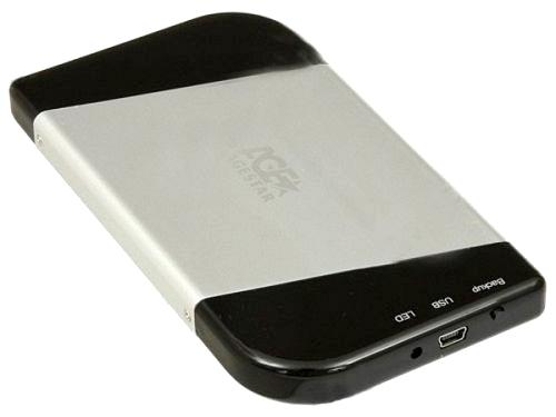 Корпус для жесткого диска AgeStar SUB2A7 black/silver, вид 1