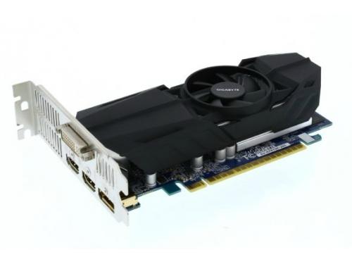 Видеокарта GeForce Gigabyte GeForce GTX 750Ti, 2Гб GDDR5, DVI-I / 2xHDMI / DP, низкопрофильная, (GV-N75TOC-2GL), вид 7