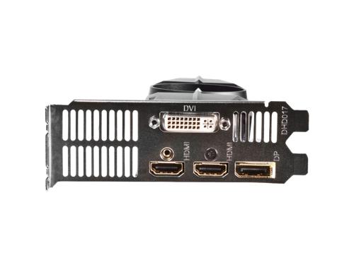 Видеокарта GeForce Gigabyte GeForce GTX 750Ti, 2Гб GDDR5, DVI-I / 2xHDMI / DP, низкопрофильная, (GV-N75TOC-2GL), вид 9