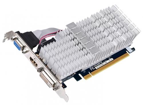 Видеокарта GeForce Gigabyte PCI-E NV GV-N730SL-2GL GT730 2048MB DDR3 64bit, вид 1