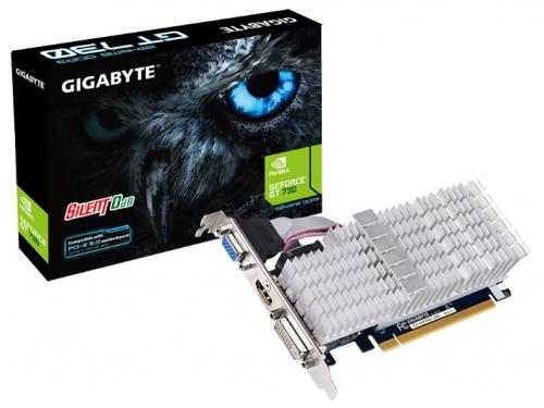 Видеокарта GeForce Gigabyte PCI-E NV GV-N730SL-2GL GT730 2048MB DDR3 64bit, вид 3