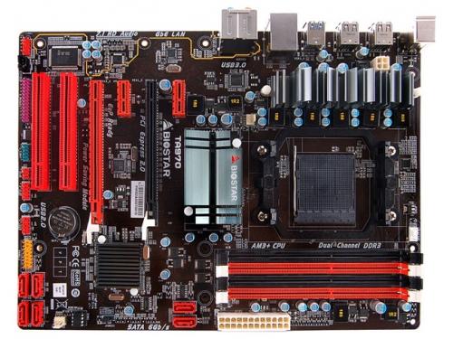 Материнская плата Biostar TA970 Ver. 5.x, ATX (AM3+, AMD970, DDR3 64Гб, CrossFire X, PCI-E 2.0, USB3.0, RAID5, GbLAN, HDA 7.1, COM, PS/2), вид 1