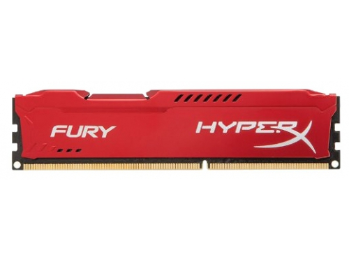 Модуль памяти DDR3 4096Mb 1600Mhz Kingston HyperX Fury Series CL10 RED HX316C10FR/4, вид 1