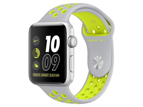 Умные часы Apple Watch Nike+ 42mm Space Grey Silver Al/Volt (MNYQ2RU/A), вид 2