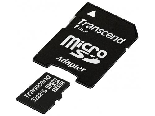 Карта памяти Transcend TS32GUSDHC10, 32Gb, вид 1