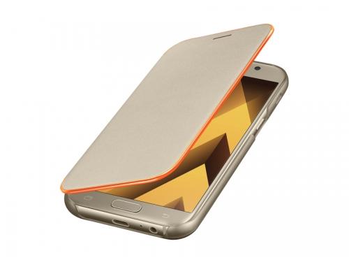 Чехол для смартфона Samsung для Samsung Galaxy A5 (2017) Neon Flip Cover, золотистый, вид 2