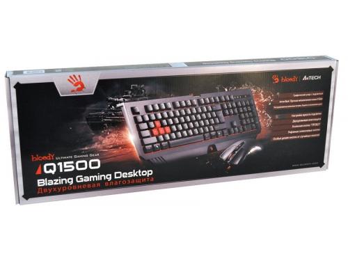 Комплект A4-Tech Bloody Q1500 (клавиатура Q110 и мышь Q9) USB, чёрные, вид 2
