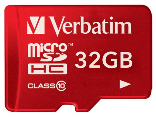 Карта памяти Verbatim Tablet microSDHC Class 10 UHS-1 32GB + SD adapter, вид 2