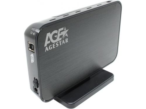 Корпус для жесткого диска AgeStar 3UB3A8-6G (внешний, SATA - USB3.0), чёрный, вид 1