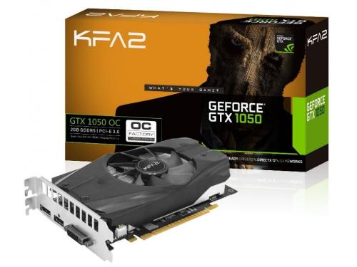 Видеокарта GeForce KFA2 GeForce GTX 1050 1366Mhz PCI-E 3.0 2048Mb 7008Mhz 128 bit DVI HDMI HDCP, 50NPH8DSN8OK, вид 6