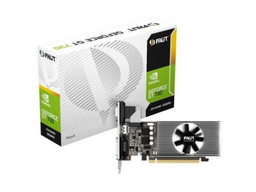 Видеокарта GeForce Palit GeForce GT 730 902Mhz PCI-E 2.0 2048Mb 5000Mhz 64 bit DVI HDMI HDCP, NE5T7300HD46-2081F, вид 4
