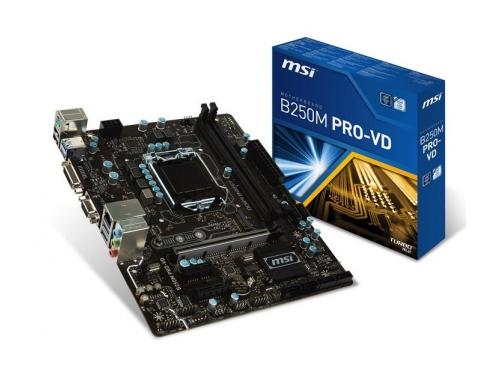 Материнская плата MSI B250M PRO-VD (mATX, LGA1151, Intel B250, 2x DDR4), вид 1