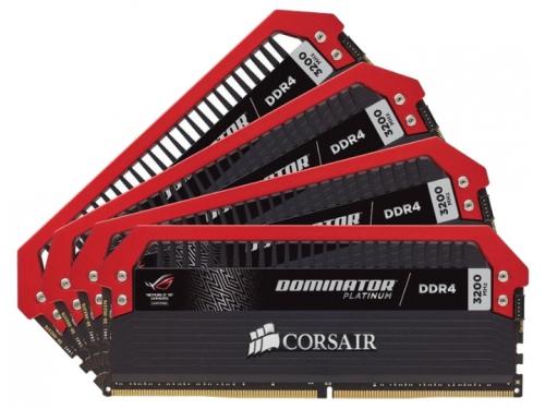 Модуль памяти DDR4 32GB 3200MHz, Corsair 4x8Gb CMD32GX4M4C3200C16 RTL, вид 1