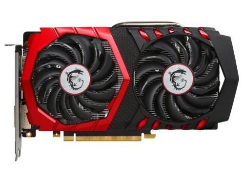 Видеокарта GeForce MSI PCI-E NV GTX1050 TI 4096Mb 128b DDR5 GTX 1050 Ti GAMING X 4G, вид 2
