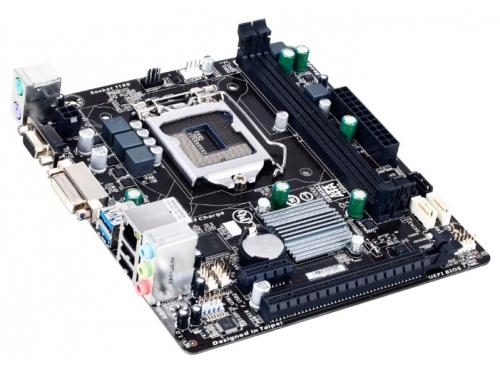 Материнская плата Gigabyte GA-H81M-S2V (mATX/LGA-1150/H81/1xPCI-E/2xDDR3/SATA3/LAN-Gbt/USB3.0/VGA/DVI-D/PS2), вид 2
