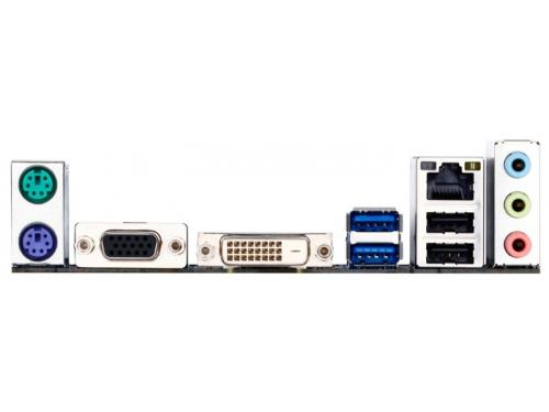 Материнская плата Gigabyte GA-H81M-S2V (mATX/LGA-1150/H81/1xPCI-E/2xDDR3/SATA3/LAN-Gbt/USB3.0/VGA/DVI-D/PS2), вид 3