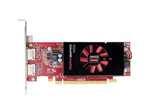 ���������� Radeon HP FirePro W2100 2GB, PCIe x16 DVI, DP J3G91AA, ��� 1