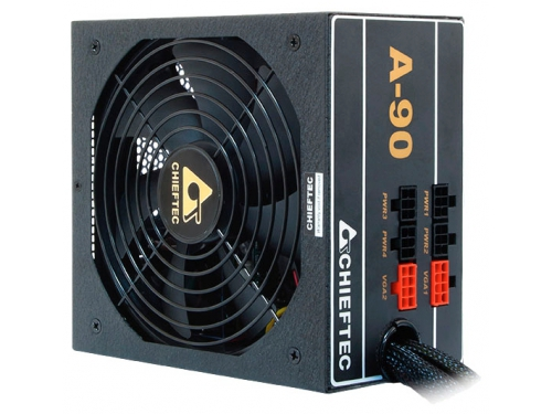Блок питания Chieftec GDP-750C 750W (ATX 2.3, APFC, вент.14мм, +12V 62A, 4x PCI-E, 8x SATA, 3x Molex, 80 Plus Gold, Cable Management), вид 2