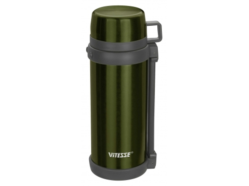 Термос Vitesse VS-1412 зеленый металлик, вид 1