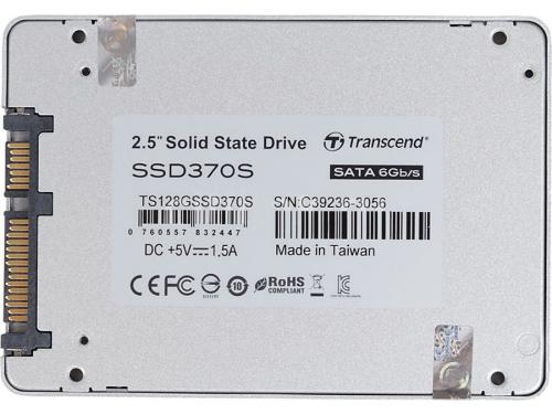 Жесткий диск Transcend TS128GSSD370S, 128Gb (SSD, SATA3), 7 мм, вид 3
