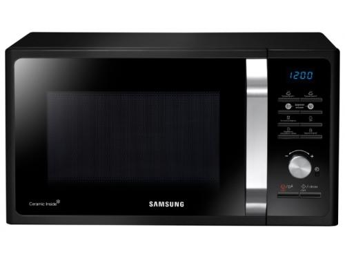 Микроволновая печь Samsung MS23F302TAK, черная, вид 1